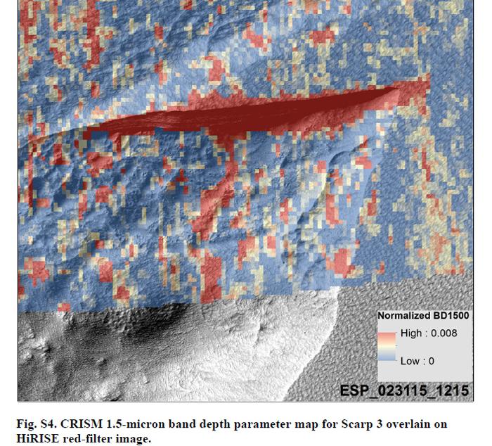 гиперспектральный анализ участка с залежами льда