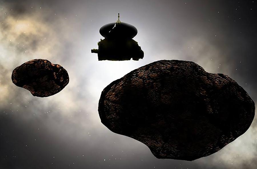 сближение New Horizons с астероидом MU69
