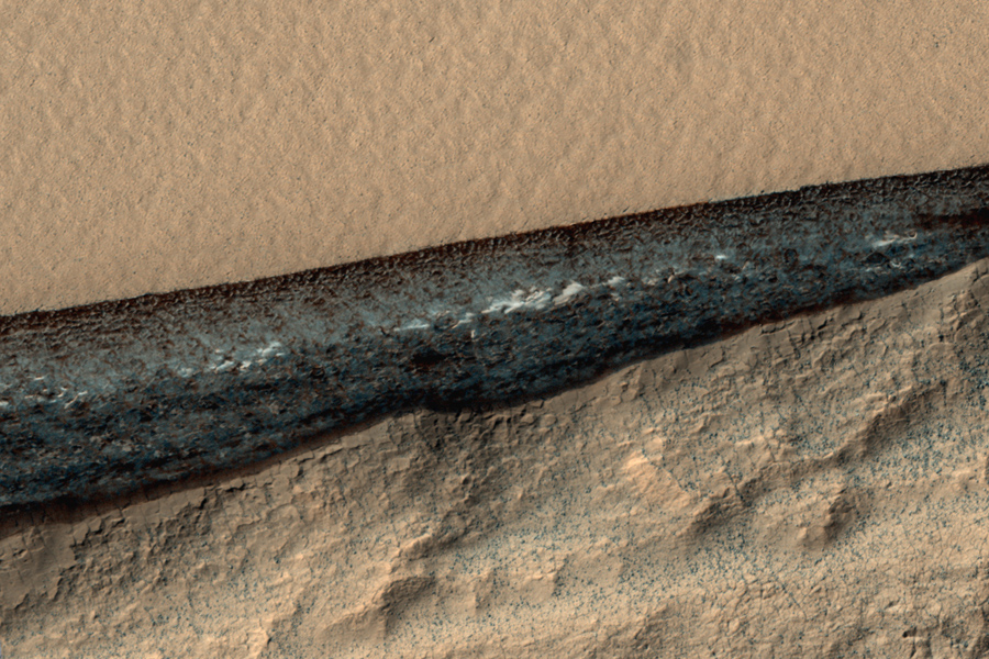 слой обнаженного марсианского льда