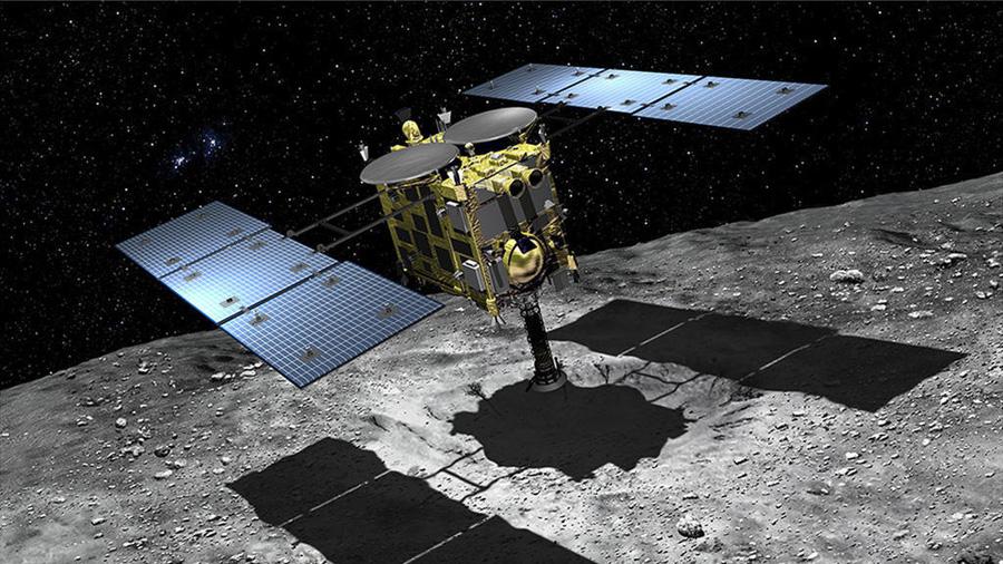 встреча аппарата Hayabusa 2 с астероидом