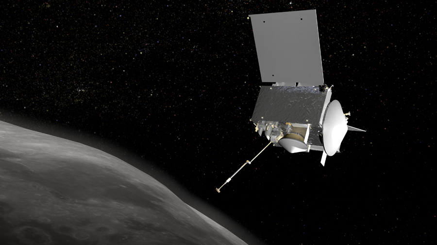 встреча аппарата OSIRIS-REx с астероидом