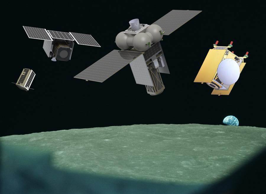 проект лунного микроспутника
