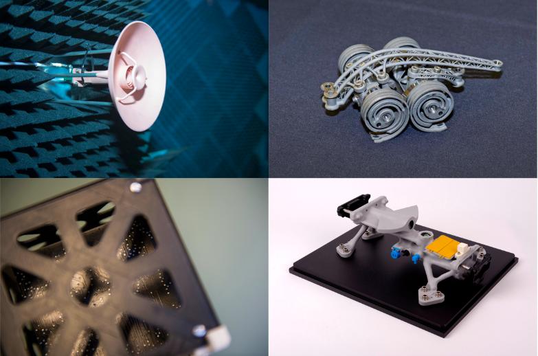 детали для космических аппаратов распечатанные по заказу на 3D-принтере