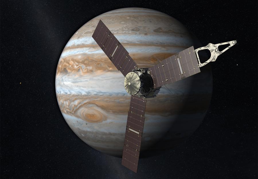 космический аппарат Juno на орбите Юпитера