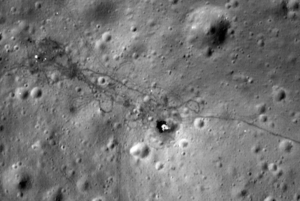 подборка фотографии луны место высадки одном них
